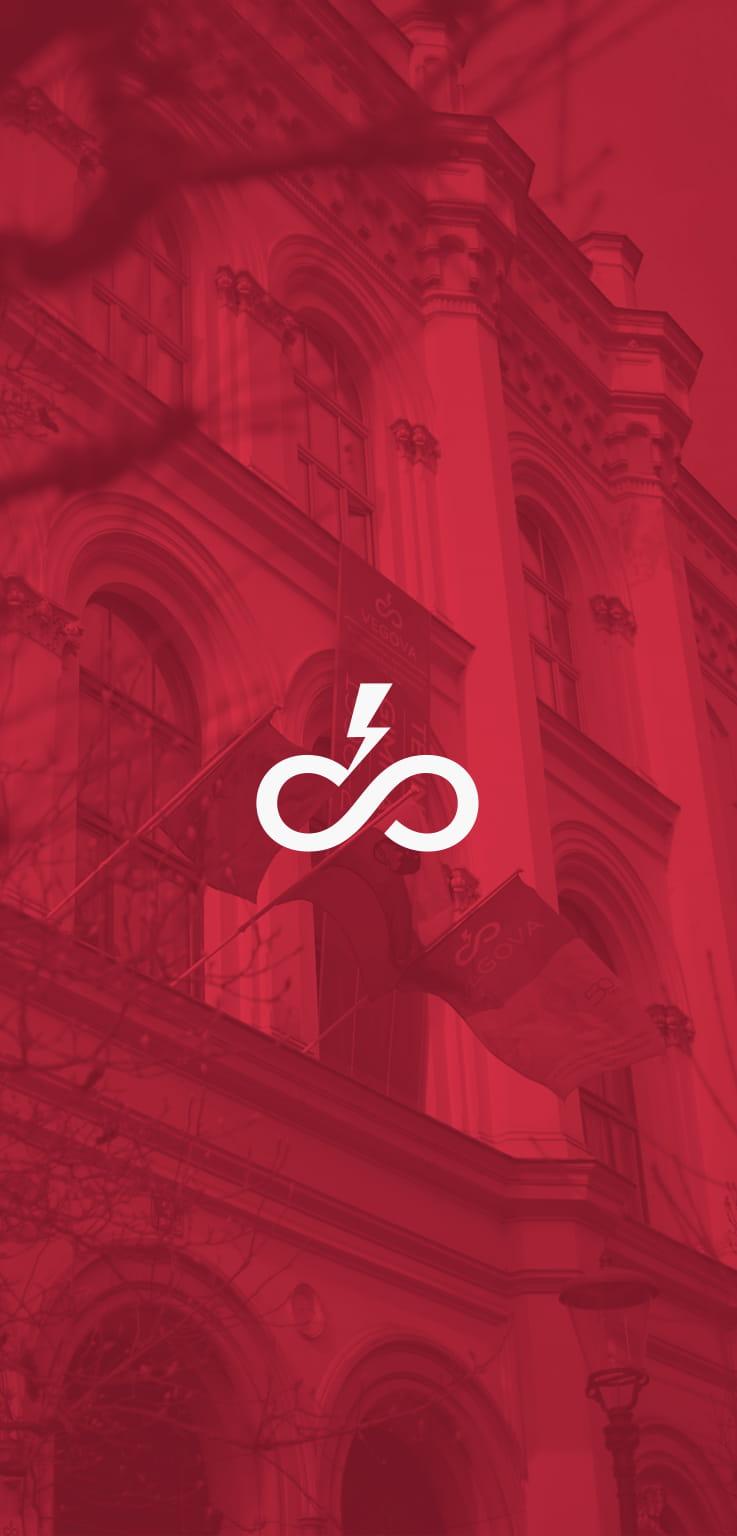 logotip vegove v ozadju stavba vegove šole