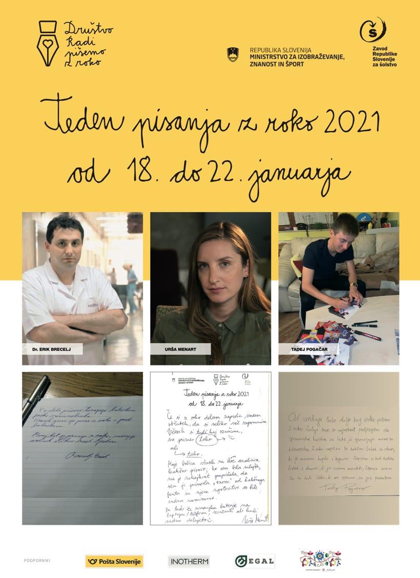 teden pisanja z roko 2021 od 18. do 22. januarja